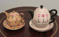 """Collection of 2 """"Tea for one"""" sets."""