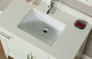 "Brand New Contemporary 36"" White Bathroom Vanity sink cabinet wi"