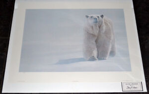 Terry Isaac and Robert Bateman Polar Bear s/n prints