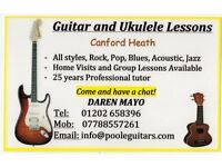 Guitar and Ukulele Lessons. Canford Heath