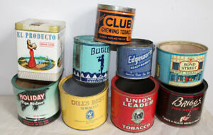 Bunch Tobacco Pipe Cigarette tins - Old Advertising tin cans