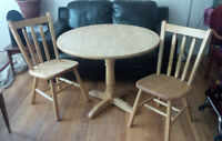 Small kitchen table and chairs.