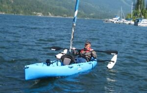 Hobie Mirage double Kayak with sail and outriggers