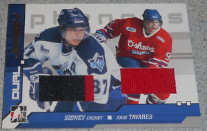Crosby / Tavares , 2006-07 , In The Game Phenoms Dual Jersey Gatineau Ottawa / Gatineau Area image 1