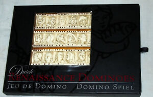 RARE Dutch Renaissance Domino Game GR001F with wooden tray