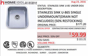 HOME IDOL SINGLE KITCHEN SINK $59