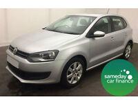£146.95 PER MONTH SILVER 2011 VW POLO 1.4 SE DSG 5 DOOR PETROL AUTOMATIC