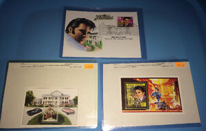 ELVIS PRESLEY Madagascar Dominica & USA First Day Issue Stamps