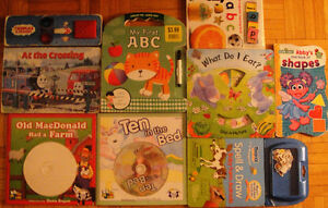 Lot of 8 Toddler Books & 2 CDs