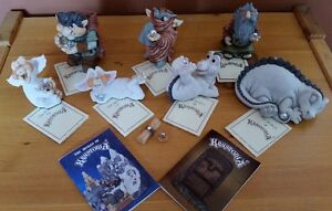 9 Vintage Krystonia Collectables with Certificates, like new!