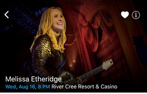 Melissa Etheridge at River Cree Casino