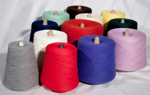 Yarn on cones - for knitting machines