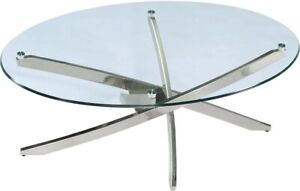 1 new table with glass top and metal  base