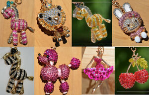 BRAND NEW: Crystal Keychain/Purse Charms > ONLY $4 EACH