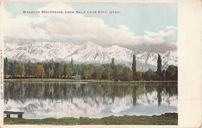 Postcard Wasatch Mountains Salt Lake City Ut