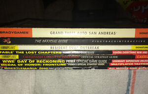 8x various guide / strategy books - nintendo, xbox, playstation