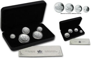2004 Silver Maple and Arctic Fox Fractional Silver Sets