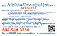 Creative Plumbing & Heating  - Residential, Commercial, Strata