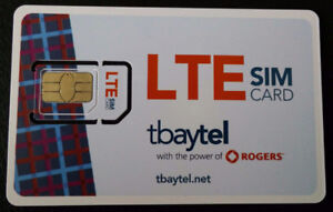 Rogers Tbaytel canada wide data SIM 6.25$/GB