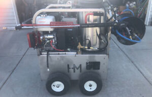 USA Made Hot/Cold water with Steam Pressure Washers.
