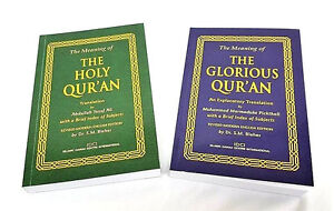 English Translation: The Glorious and Holy Quran - 2 Pack Set (IDCI)