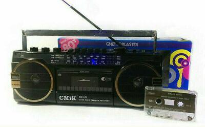 LETTORE RADIO STEREO CASSETTE MUSICASSETTE REGISTRATORE USB + SD GHETTOBLASTER