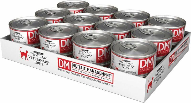 Purina DM Dietetic Management FELINE, 5.5 oz Can (Case 24) Pate