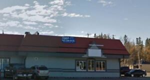 Retail space for lease downtown Sundre