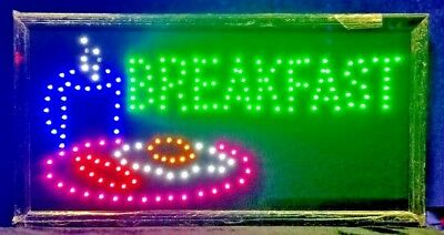 Breakfast Neon LED Sign,Store Sign,Restaurant,Shop Window Sign,Business Sign ()