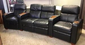 LA-Z-Boy Matinee Full Leather Reclining Theater Seating.