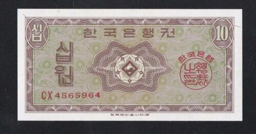South Korea:P-32a,10 Won,1962 * UNC *