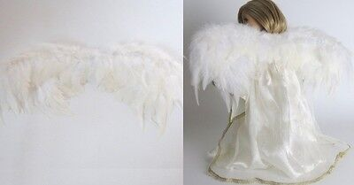 "Lovvbugg Feather Wings for 18"" American Girl Doll Angel Costume Clothes Accessory"