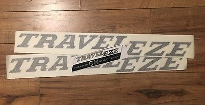 "Traveleze decal Chrome & Dusky travel trailer vintage 28"" sustained Sun Valley Set-3"