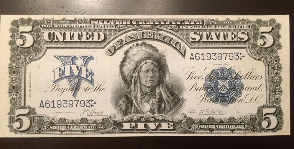 REPRODUCTION COPIES 1899 Silver Certificates $1, $2 Two Silver $,$5 ...