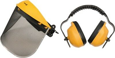 Gesichtsschutz mit GEHÖRSCHuTZ Augenschutz Sichtschutz Arbeitsschutz Visier