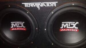 Two 12's MTX Audio Speakers