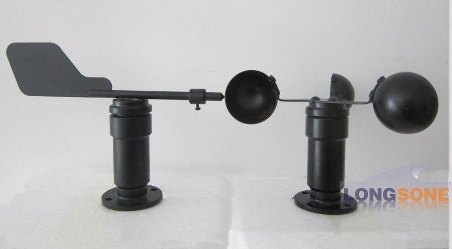 Set of Wind Speed Sensor and Wind Vane Aluminium Alloy Current /Voltage output