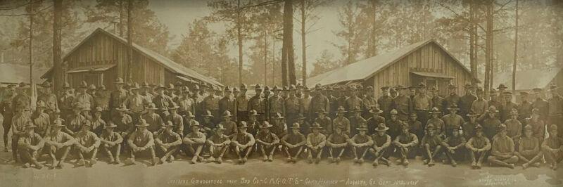 Original WWI Photograph Camp Hancock Augusta, GA 1918 Graduating Officers 3rd Co