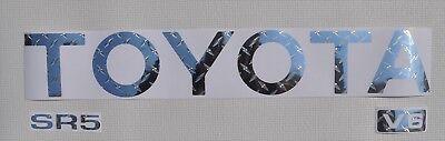 TOYOTA TRUCK TAILGATE DIAMOND PLATE CHROME  LOGO DECAL 89-95   ()