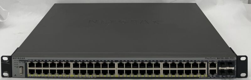 Netgear Prosafe M4100-50g-poe+ 50-port Gigabit Managed Switch- Gsm7248p