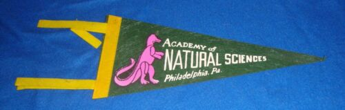 Vintage Academy of Natural Sciences Pennant with Dinosaur