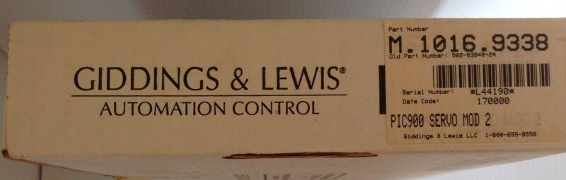 Giddings & Lewis M.1016.9338    Servo Interface Module     New In Oem Box