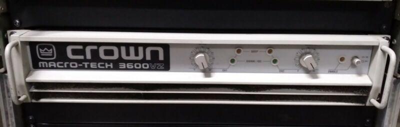 CROWN MACRO TECH 3600VZ POWER AMPLIFIER-TESTED-NICE!!!-3600W (1800WPC@2ohms)