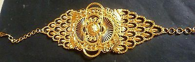 22k Gold Arm (Indian 22K Gold Plated 1 Pc Baju Bandh Upper Arm Jewelry Bracelet )