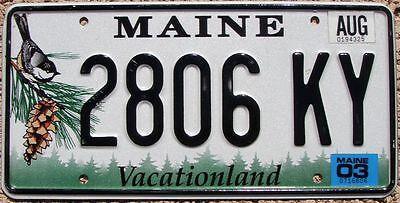MAINE License Plate - Random Letters - ME Chickadee