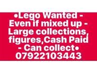 Lego Wanted - Even if mixed up - Large collections,figures,Cash Paid