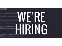 Front-end developer - flexible hours. 3-5 days/week. £9,600 - £16,000pa, dependant on experience