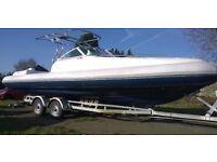 RIB BOAT 7.5 MTR AQUAFLYTE CABIN RIB 225hp ETEC outboatd
