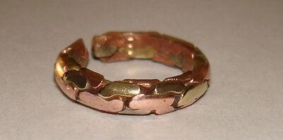 Tibetan 3 Metal Medicine Ring (adjustable to fit most fingers)