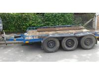 HEAVY DUTY PLANT / CAR TRAILER HOLDS MEDIUM SIZE CAR OR CAN EASILY BE EXTENDED TO CARRY ALL CARS.